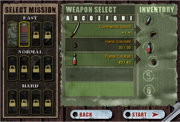 Commando 2 Weapon Select